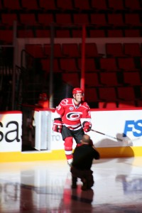 The Ultimate AWE moment when I was announced and skated onto the ice at the 1st annual Canes Alumni Fantasy Game